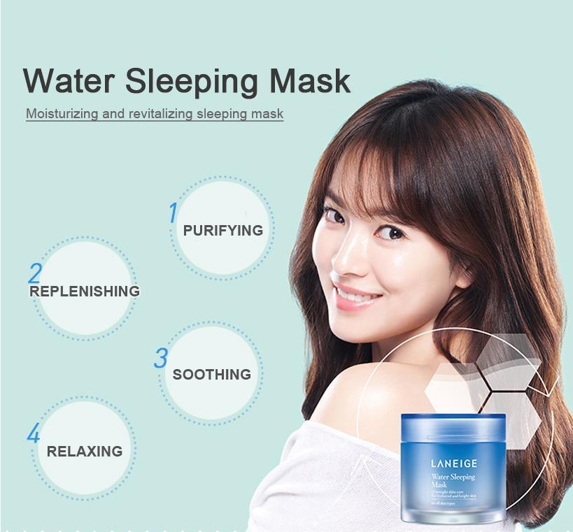 Корейская косметика, водная маска для сна, против морщин, маска для лица, уход за кожей лица, лифтинг, укрепляющий увлажняющий крем, маска для...