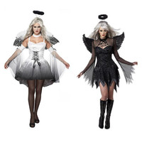 2017 New Women Fantasia Halloween Costumes Fantasy Cosplay Party Fancy Dress Adult Fallen Angel Costume With