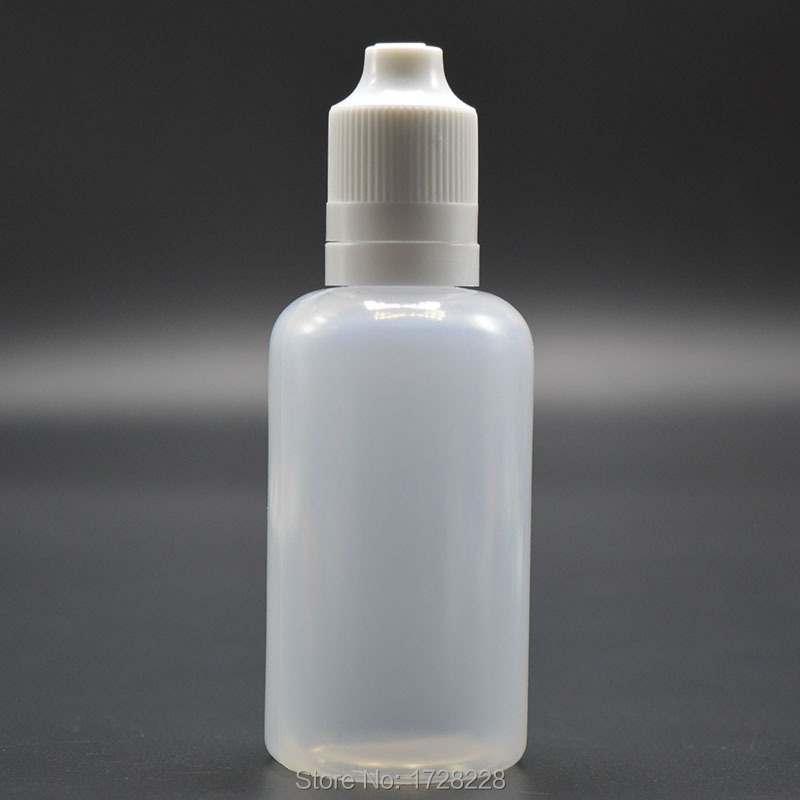 Lot of 100 2 oz 60 ml LDPE Squeezable Plastic Dropper Bottles