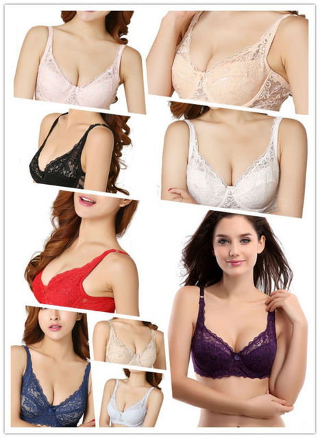 1caa8f0aaf878 Women s Plus Size A E Lace Underwear Underwire Cotton lined Push Up ...