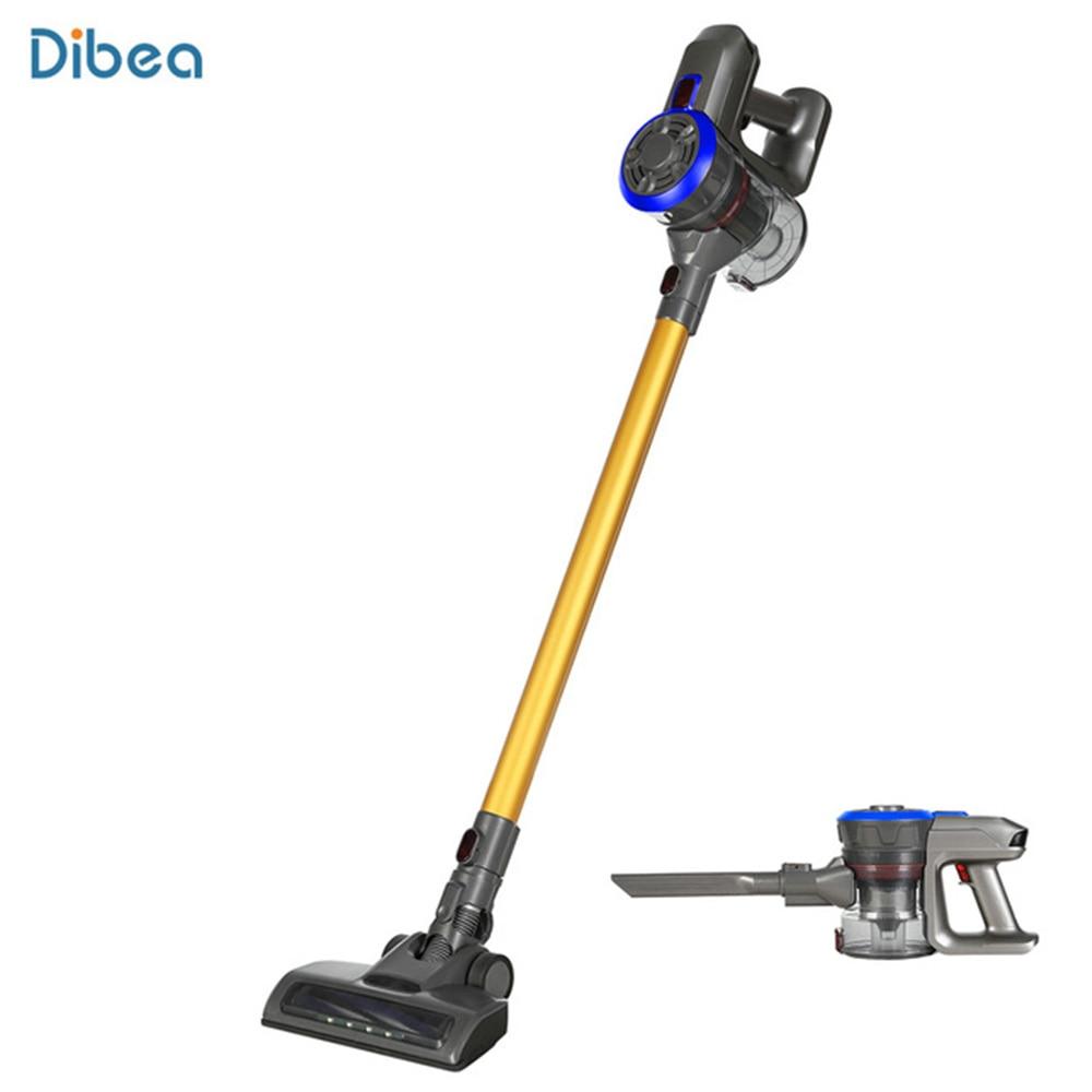 Dibea D18 2 в 1 Ручной Аккумуляторный Пылесос циклонный фильтр 120 Вт 8500 Pa Сильный всасывания пыли коллектор бытовой аспиратор
