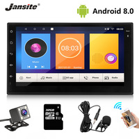 Jansite 2din Car Radio Android 8.1 Universal Gps Wifi Bluetooth Touch Screen Car Audio Stereo FM USB Steering Wheel Controls MP5