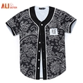 Alisister New Arrivals Men/women 3d T-shirt Unisex Summer Tops Print Flowers Lovely Button Shirts Hip Hop Baseball Jersey Tshirt