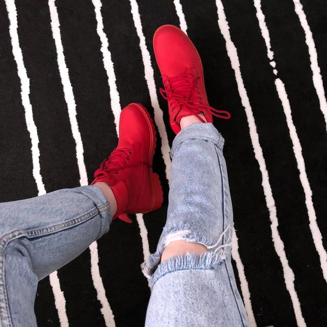 scarpe grayplush rosso bianco stivali impermeabile donna moda nero caldo inverno primavera rosso Fujin grigio caviglia peluche neve 2018 biancoplush rosaplush blackplush inverno autunno rosa qYOAf