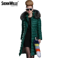2016 New Autumn And Winter Jacket Girls Long Paragraph Slim Minimalist European Style Women S Hooded