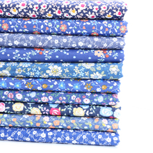Beautiful small floral fabric cotton printed twill for DIYhand patchwork pajamas dress bedding