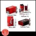Original kanger kbox 40 w box mod vaporizador ou mini-subtanque subtanque nano subtanque plus v2 atomizador cigarro eletrônico (1 pc AA)