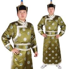 Vêtements de haute qualité pour hommes de mongolie, vêtements de danse folklorique chinois faits à la main
