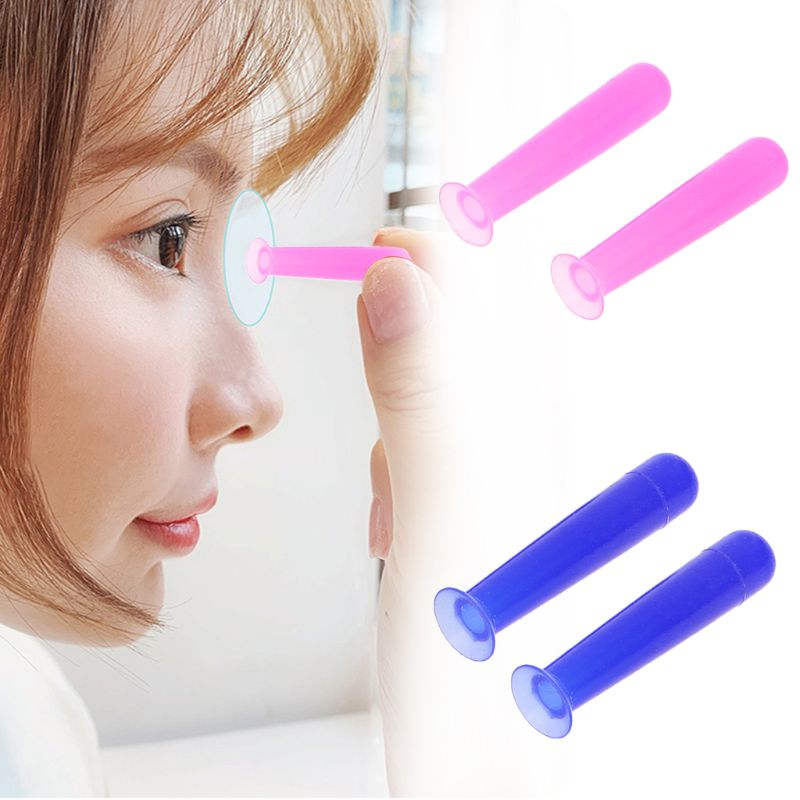 2pcs/Lot Handy Silicone Contact Lenses Small Suction Cups Stick RGP Inserter Remover