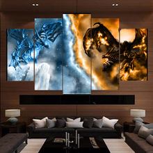 5 Piece Canvas Art Modern Game Dragon HD Print Painting Paintings on Wall for Home Decorations Decor