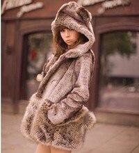 New arrival 2017 Winter Japan style kawaii hoodie faux fur coat women Fashion warmed
