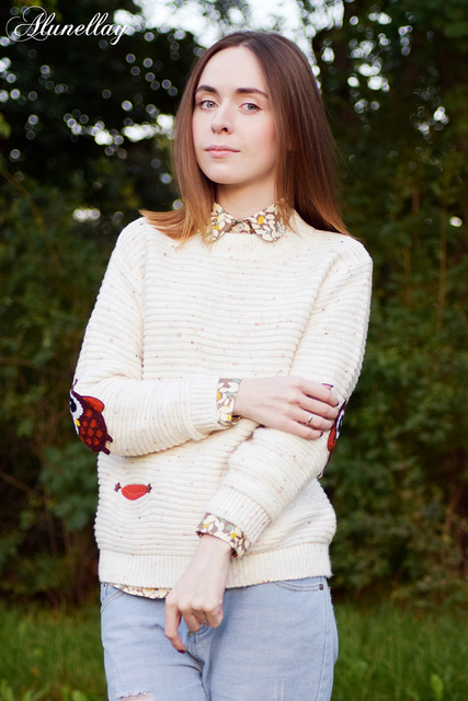 Cute Cashmere Owl Sweater Pullover
