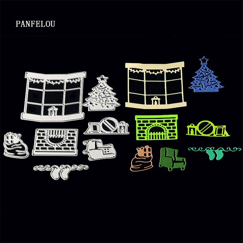 Panfelou металла Craft зима салон бумаги высечки умирает для Скрапбукинг/DIY Рождество Свадебные Новый год карты