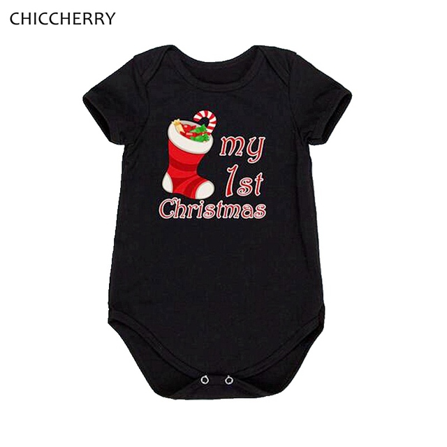 my first christmas baby girl bodysuits short sleeve jumpsuit body bebe menino vetement bebe fille newborn