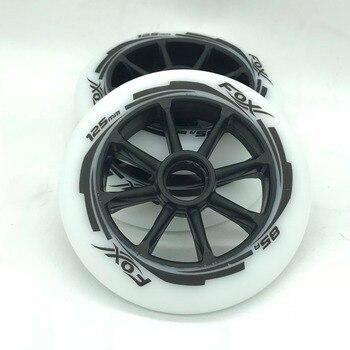 Brand New 3 Pcs High Quality 85 Pu 125mm * 24mm Inline Speed Roller Skate Wheels SHR 3 Wheel Skates Racing Scooter Wheels Ruedas