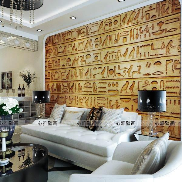 custom wall mural Ancient Egyptian retro style wallpaper clothing store personalized bar KTV sofa TV background wallpaper mural