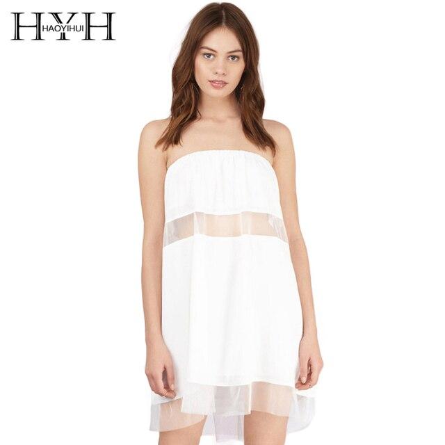 Mujeres con vestido blanco transparente