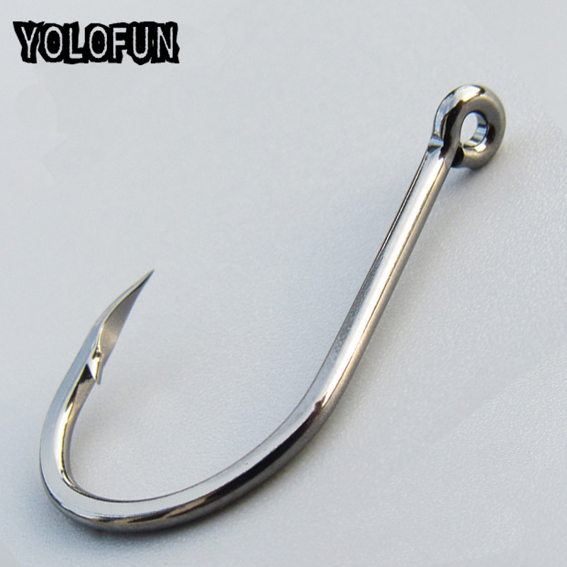 50pcs/ Lot Octopus Fishing Hooks High Carbon Chmical Sharpen Barbed Circle Hook Tackle Set 5C Point Hardness Supplier Fishhooks