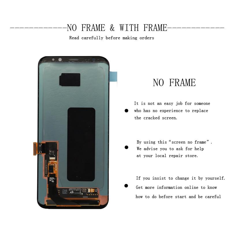Super-AMOLED-For-Samsung-Galaxy-S8-S8-plus-G955f-G950F-G950U-G950FD-Burn-in-Shadow-Lcd