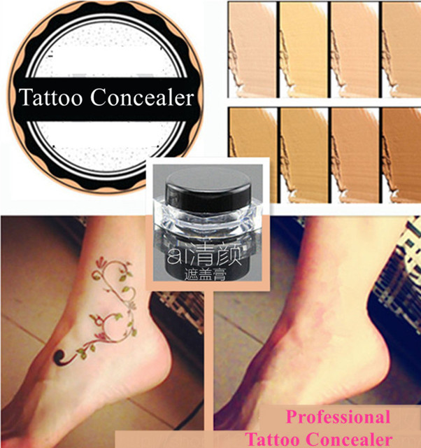 Waterproof Concealer for Tattoo Acne Scar Birthmark Spots 8 Colors ...