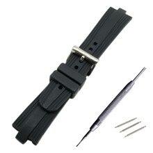 สีดำยาง/ซิลิโคนS Cuba Diverสายนาฬิกาข้อมือนาฬิกาข้อมือสายรัดสำหรับFit BVLG 22มิลลิเมตรX 7มิลลิเมตร