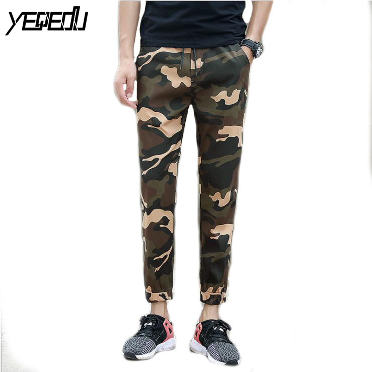 #1719 2018 Ankle-length Military pencil pants Joggers High street trousers Camouflage pants fashion Track pants Slim sweat pants