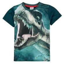 Boy Short Sleeve T-Shirt 2019 New Summer Cotton Print Childrens Wear Casual Round Neck C5031