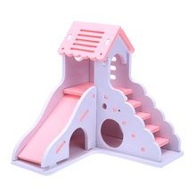 Luxurious Hamster House Swing Toy Slide Hamsters Nest Loft Bed Cage Nest Pet Hedgehog Castle Climb Toys Small Pet House(China)