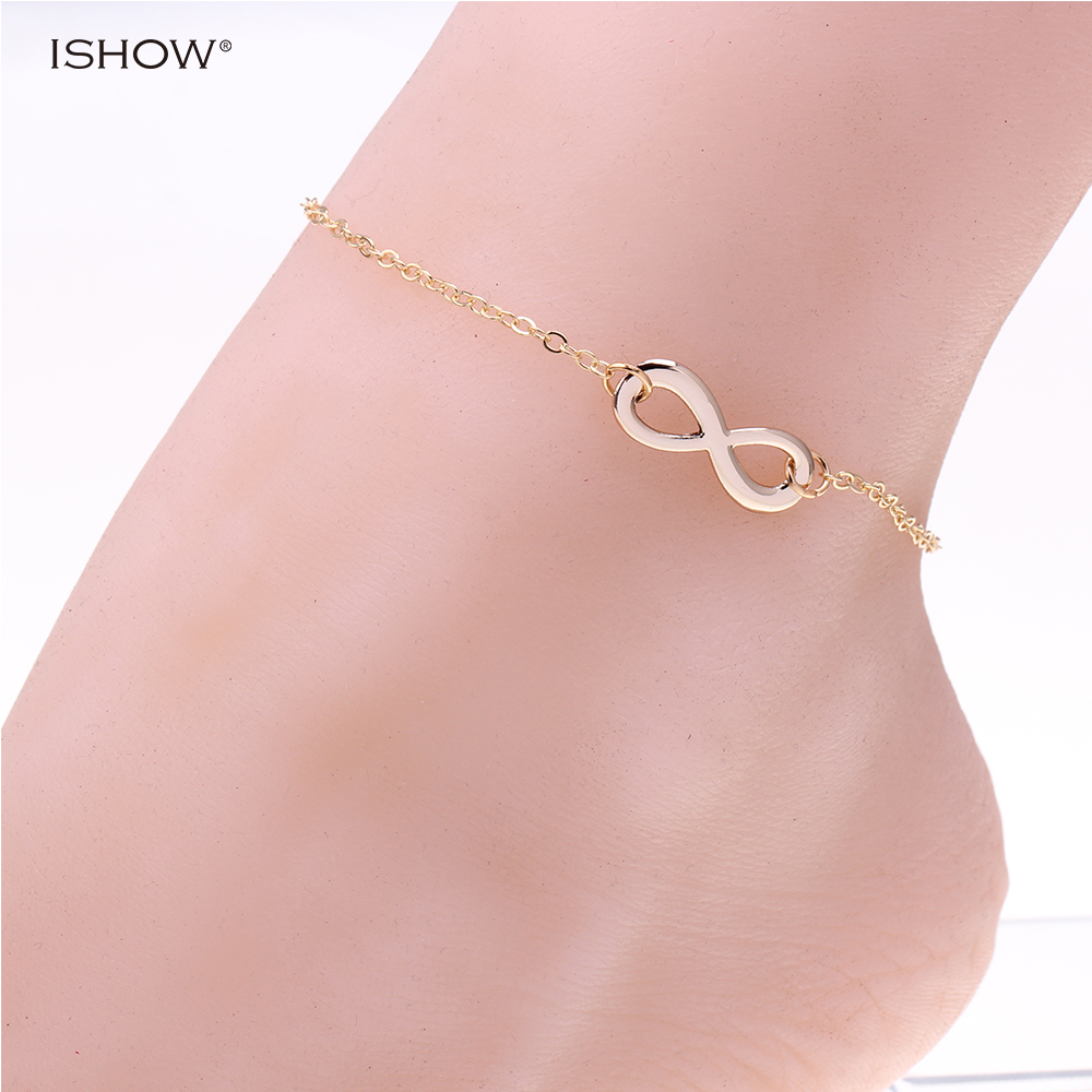 New Pentagon anklets for women gold-color ankle chain foot jewelry pulsera tobillo rose flower anklets for women jewelry