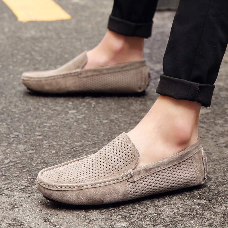 hot Selling Men's Loafers Casual Boat Flats Fashion Genuine Leather Slip On Driving Shoes Moccasins Hollow Out Gommino Zapatos hot high quality men loafers leather round toe slip on casual shoes man flats driving shoes hombre zapatos comfortable moccasins