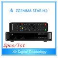 2 unids/lote Aire Digital productos más vendidos Zgemma Estrellas H2 Enigma 2 DVB-S2 Combo + T2/C Receptor de Satélite