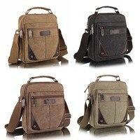 New Canvas Messenger Casual Vertical Men Bag Business Small Shoulder Messenger Bags 4 Colors Popular