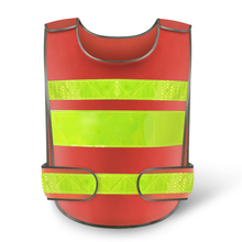 Orange Reflective Safety Clothing Reflective Vest Workplace Road Working Motorcycle Cycling Sports Outdoor Print LOGO #001