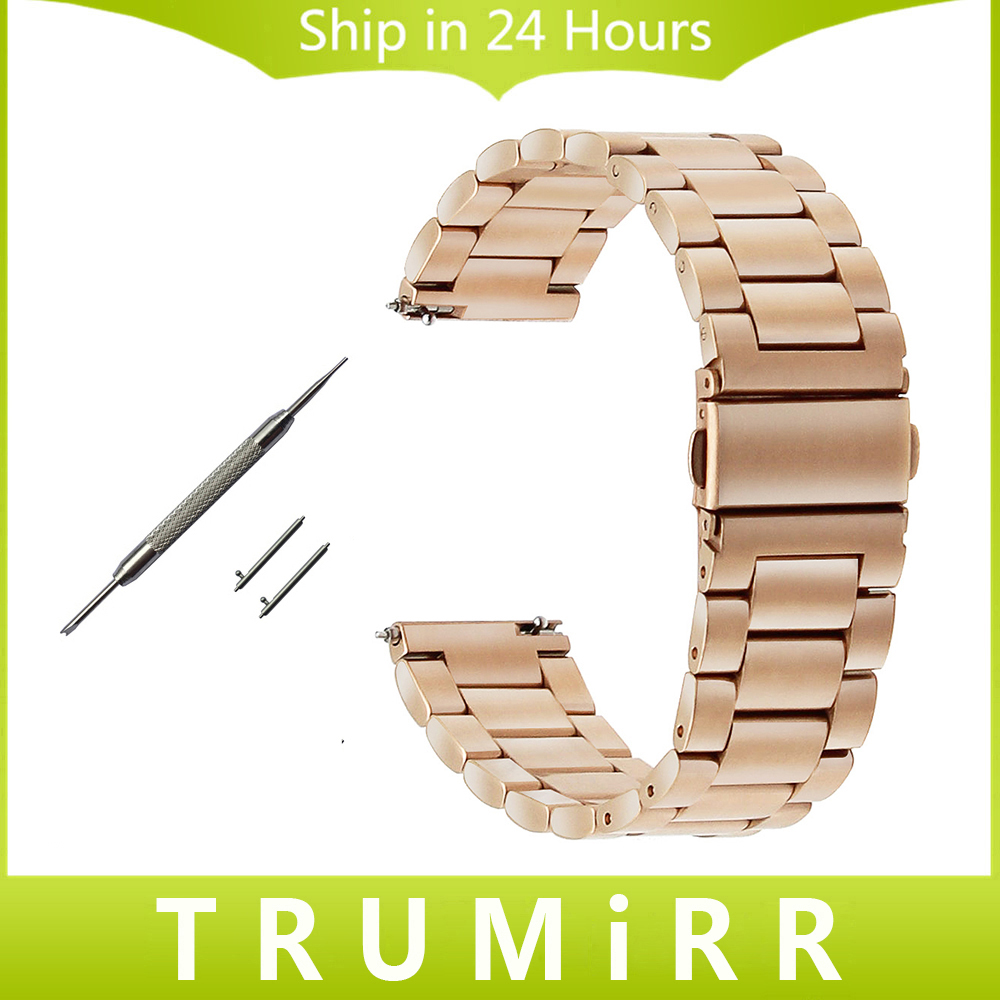 Quick release stainless steel watchband mm for