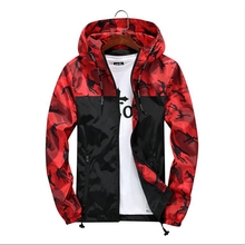 Brieuces 2019 new Spring Autumn Mens Casual Camouflage Hoodie Jacket Men Waterproof Clothes Windbreaker Coat Male Outwear