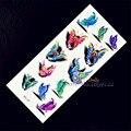 1 Sheet Beautiful 3D Butterfly Coloful Design Waterproof temporary tattoo stickers Kids Enfants papillon mariposa borboleta
