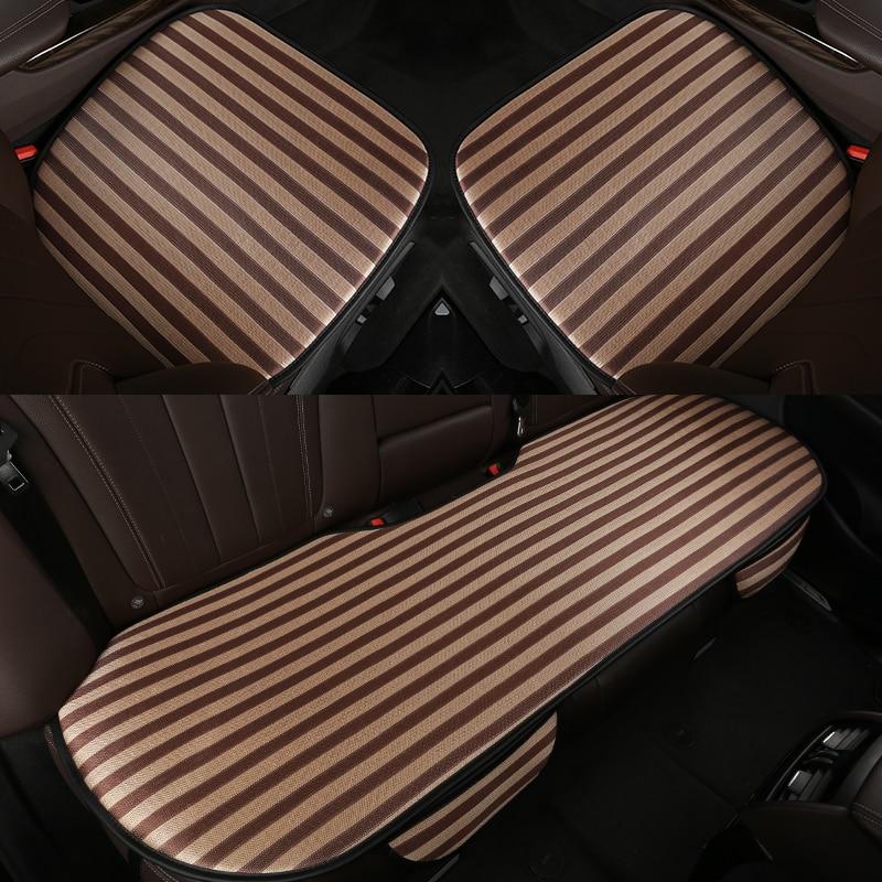 Sièges auto respirants d'été haut de gamme couvre les housses de siège de voiture en soie glacée pour Skoda citigo fabia octavia laura rapid