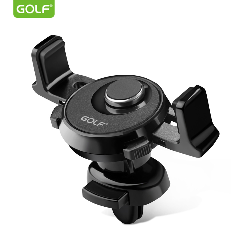 GOLF Car Air Outlet Charger Mount Holder for iPhone Samsung Universal Android Phone GPS 360 Degree Adjustable Auto Clamp Stand