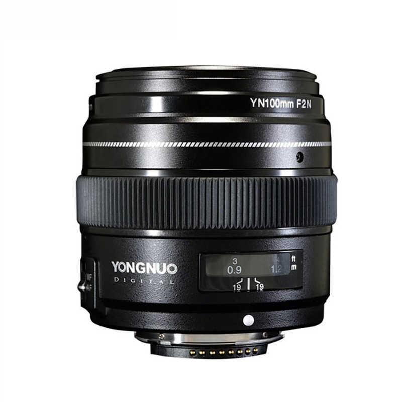Объектив Yongnuo 100 мм F2 с большой диафрагмой AF/MF Средний телеобъектив Prime Lente Macro YN100mm объектив для камеры Nikon D7200 D7100 D7000