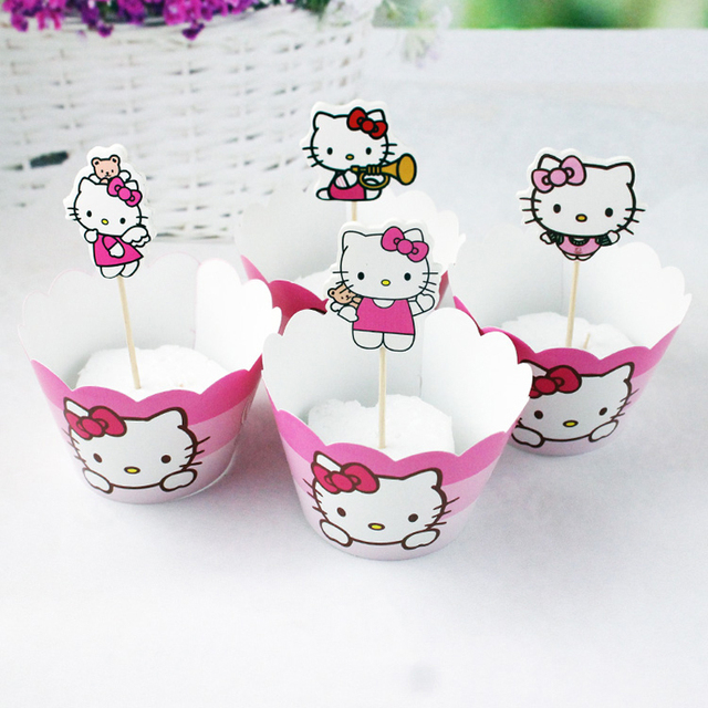 Kids Favors Diy Decoration Party Baby Shower Cake Toppers Hello