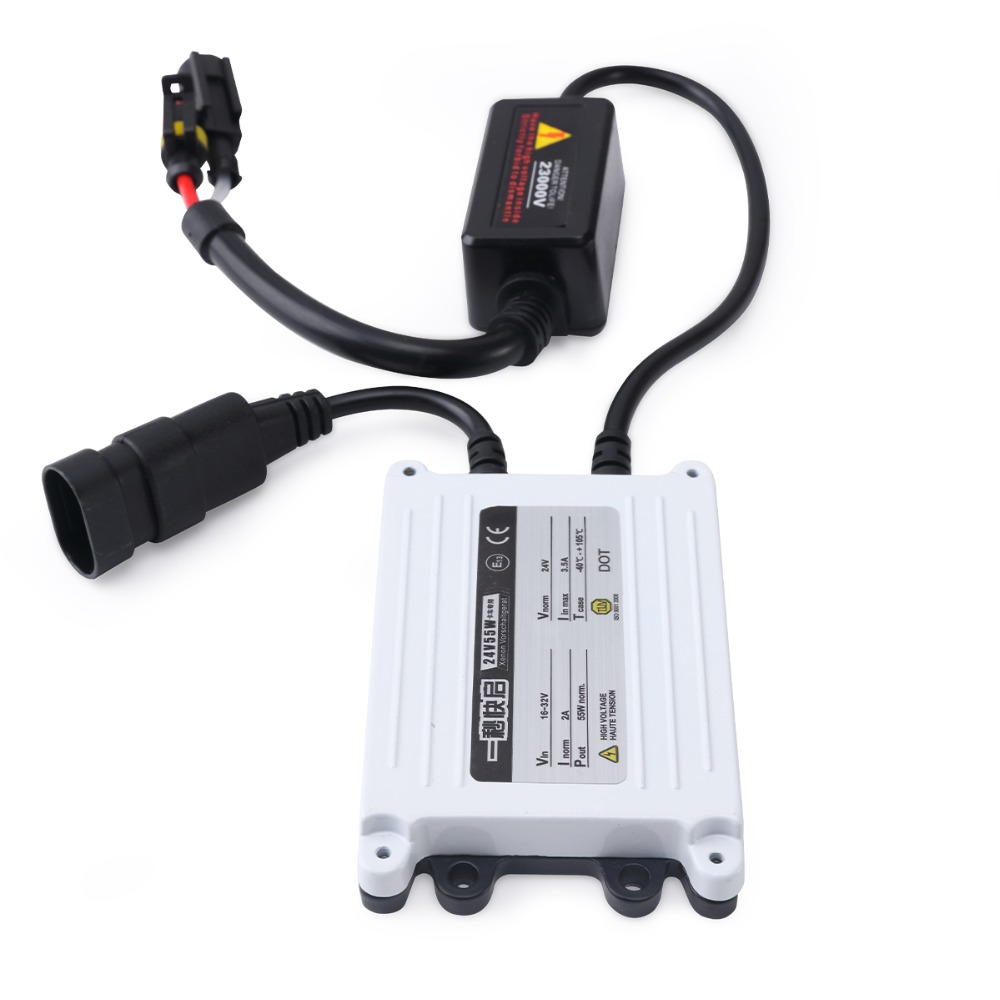 AC Ballast 24v Slim HID Xenon Ballast Blocks Ignition Replacment For Xenon Hid Kit H4 H7 H11 HB4 HB3 Hid Ballast 55w 1pc