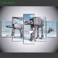 Robot Dog Star Wars 5 Pieces Canvas Painting Print Living Room Home Decor Modern Wall Art Oil Painting Poster