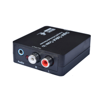 DAC Converter 192kHz Aluminum Digital Optical Coaxial Toslink To Analog Stereo Left Right RCA 3 5mm