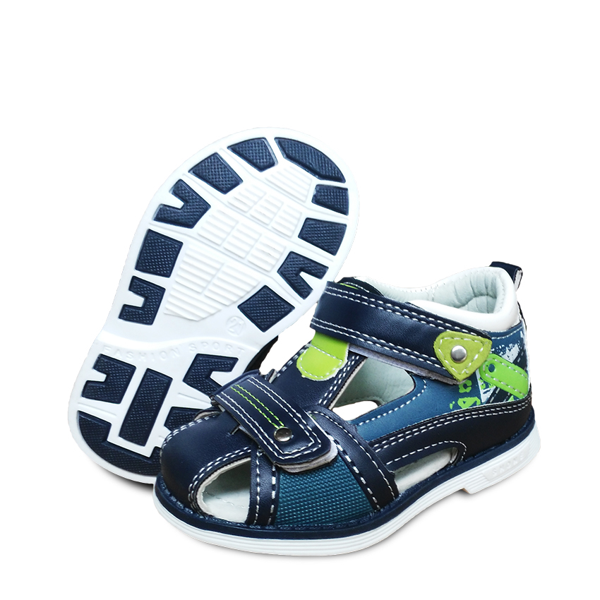 new 1pair Leather Shoes Orthopedic Sandals Children Shoes arch support Boy KIDS shoes-in Sandals ...