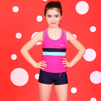 2016 New Summer Girls Sports Bikini Kids Cute Children S Swimwear Girl Swimsuit Solid Bodysuit High