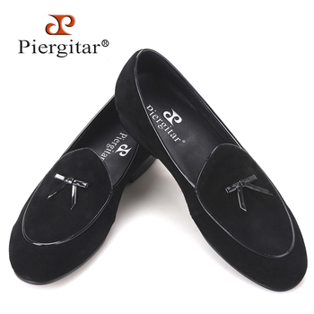 Cow suede men handmade loafers Fashion Prom and wedding men's casual shoes