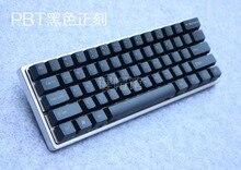 Mechanische tastatur PBT weiß keycap kirsche mx OEM höhe schwarz seite PBT 87 tastatur 104 poker 61 tastatur 60% seite drucken