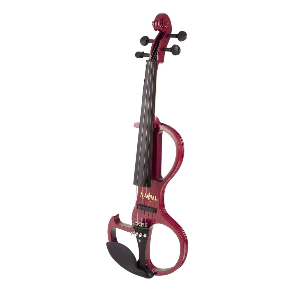 Full Size 4/4 Solid Wood Electric Silent Violin with Ebony Fittings Fiddle Maple Fingerboard Pegs Chin Rest Tailpiece for Gift стоимость