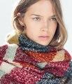 ZALA New 2014 Winter Women's Scarf Fashion Loop yarns Mohair Striped Scarf Shawl Soft Warm Free Shipping