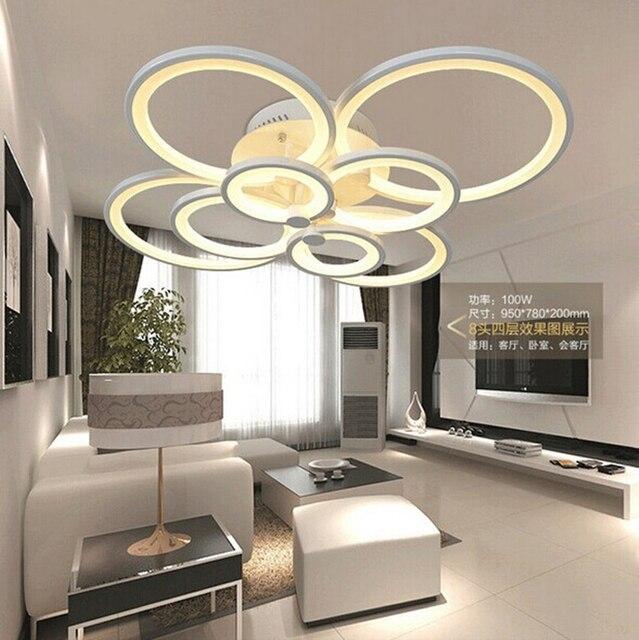 Nieuwe led ring licht woonkamer plafond slaapkamer lamp for Woonkamer lamp modern